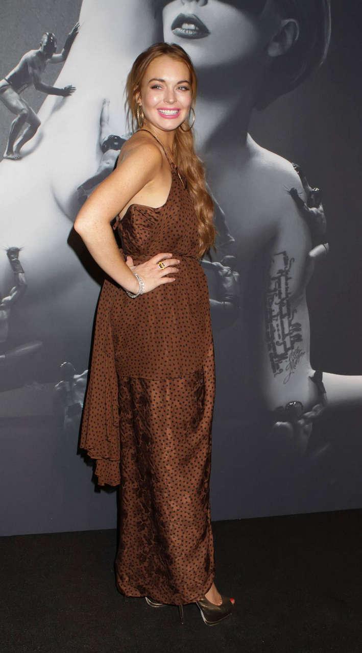 Lindsay Lohan Lady Gaga Fame Perfume Launch New York