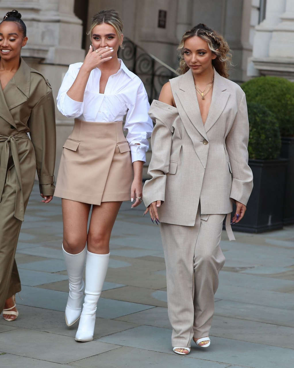 Little Mix Arrives Bbc Radio Ones Live Lounge Studio London