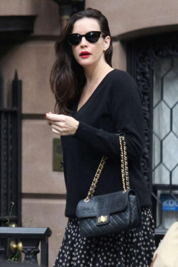 Liv Tyler Leaves Her Apartment New York