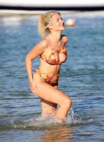 Lottie Moss Bikini Beach Greece