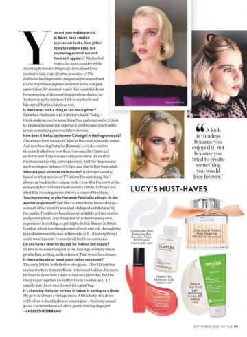 Lucy Boynton Instyle Magazine September