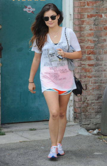Lucy Hale Leaves Gym Class West Hollywood