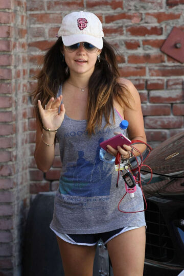 Lucy Hale Leaves Gym Los Angeles