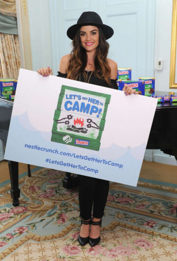 Lucy Hale Nestle Crunch Girl Scout Candy Bars Promotion