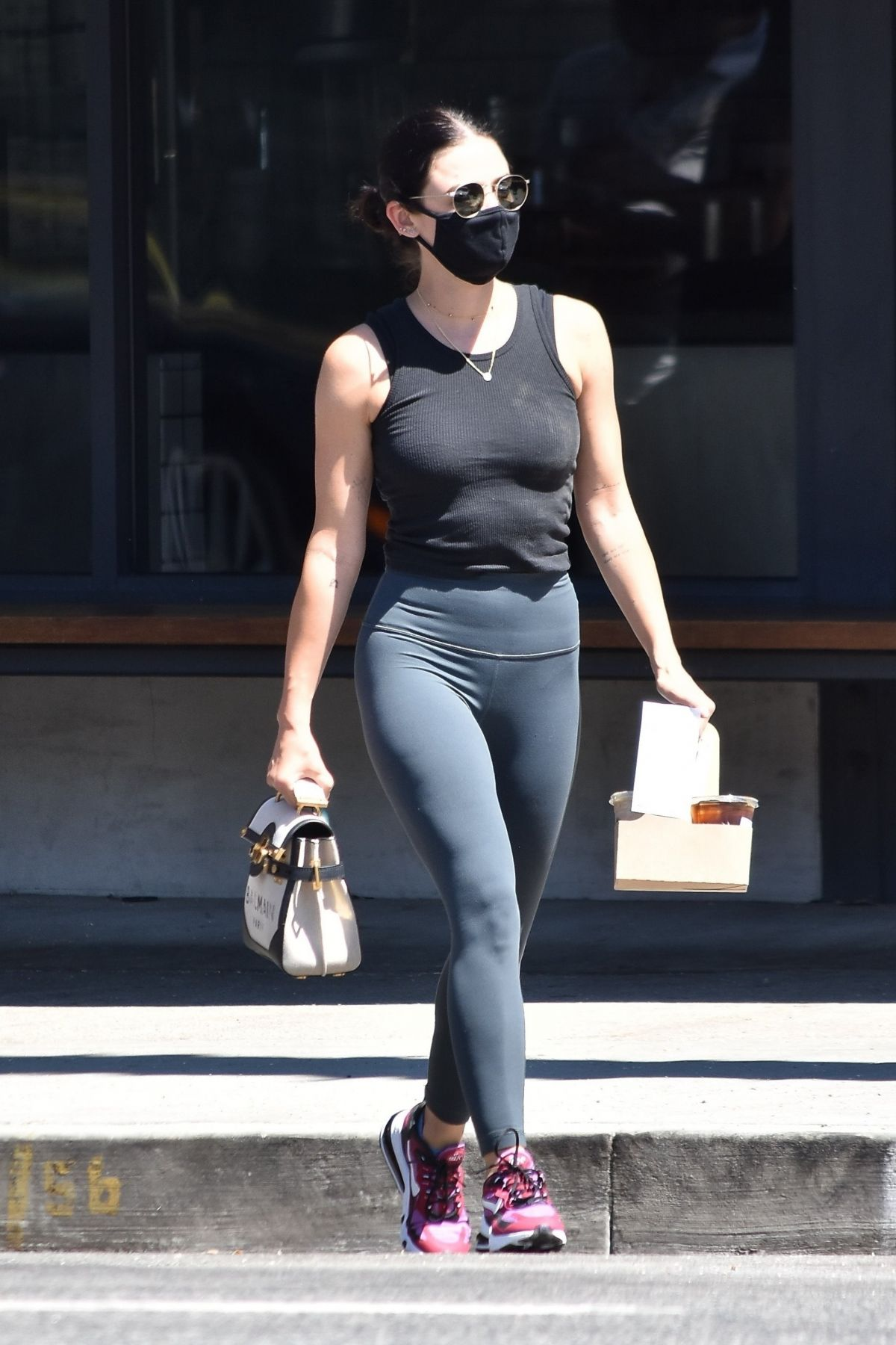 Lucy Hale Out For Coffee Studio City