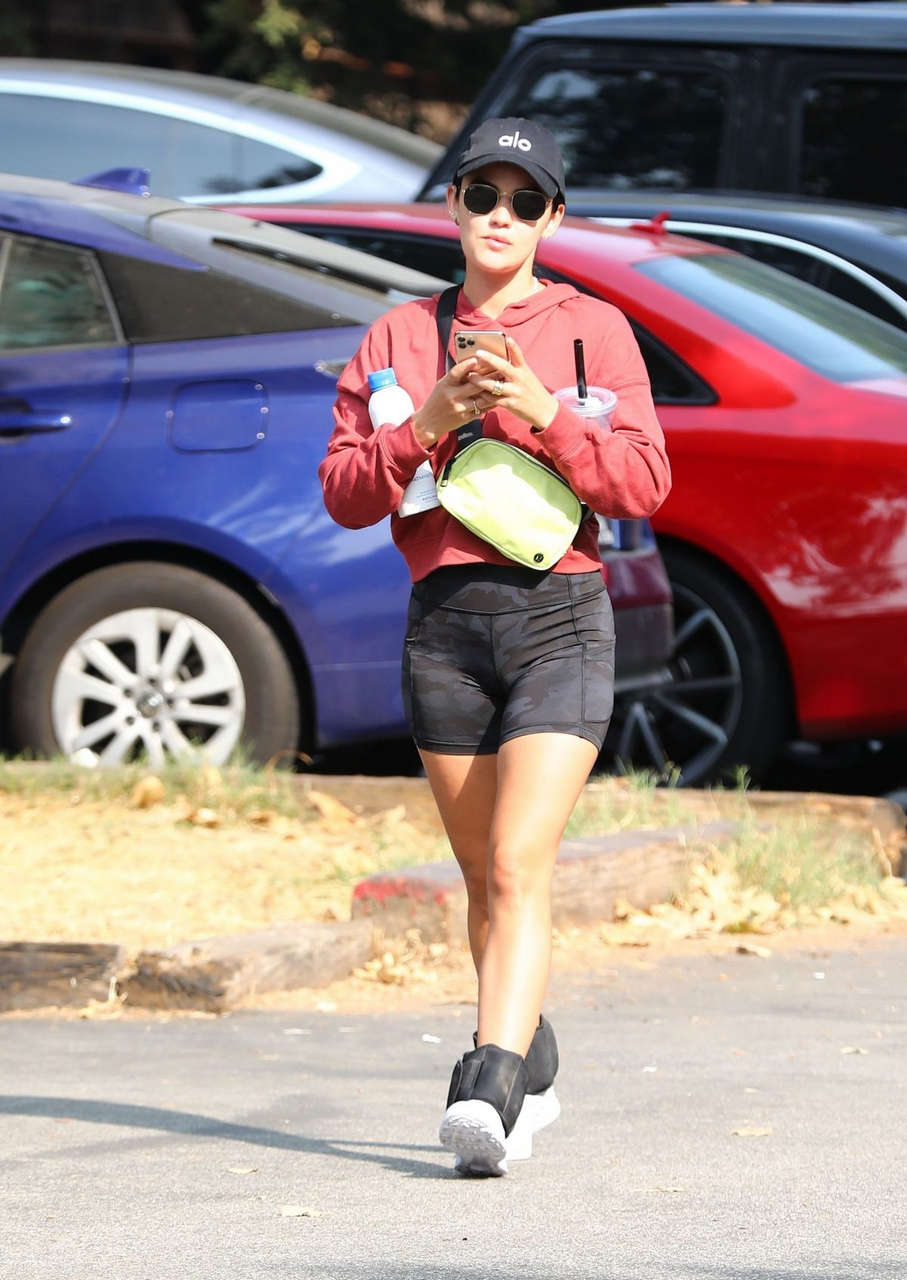 Lucy Hale Out Hiking Hollywood Hills