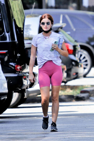 Lucy Hale Out Hiking Los Angeles