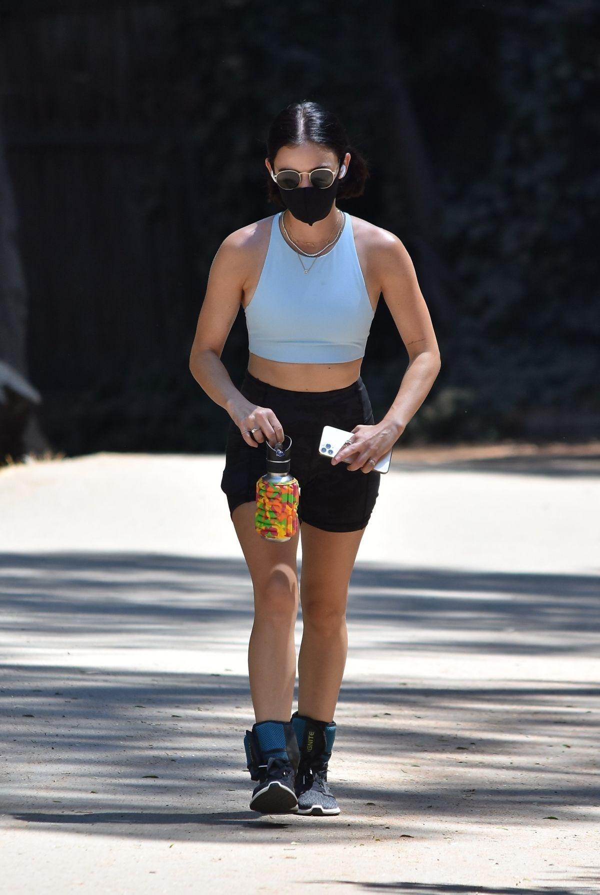 Lucy Hale Out Walking Fryman Canyon Studio City