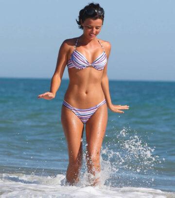 Lucy Mecklenburgh Bikini Beach Italy