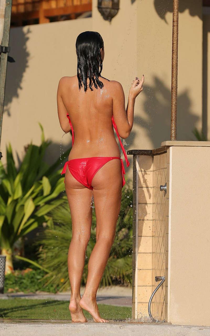 Lucy Mecklenburgh Bikini Pool Dubai