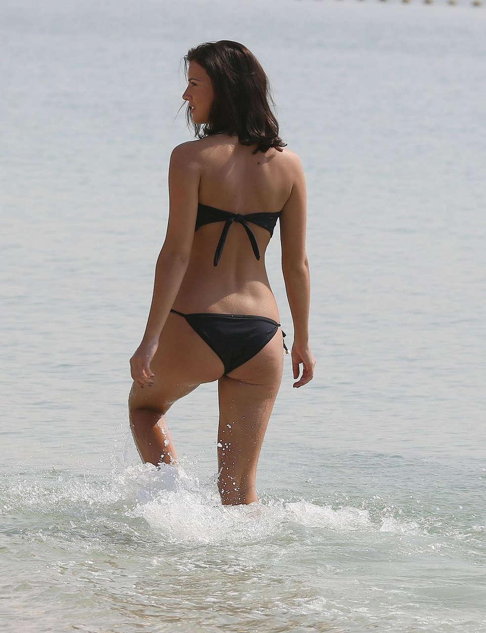 Lucy Mecklenburgh Black Bikini Beach Dubai