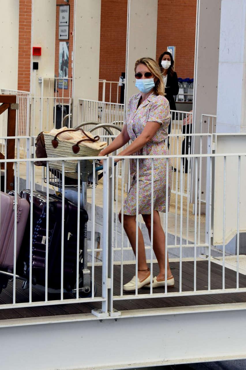 Ludivine Sagnier Arrives Venice Airport