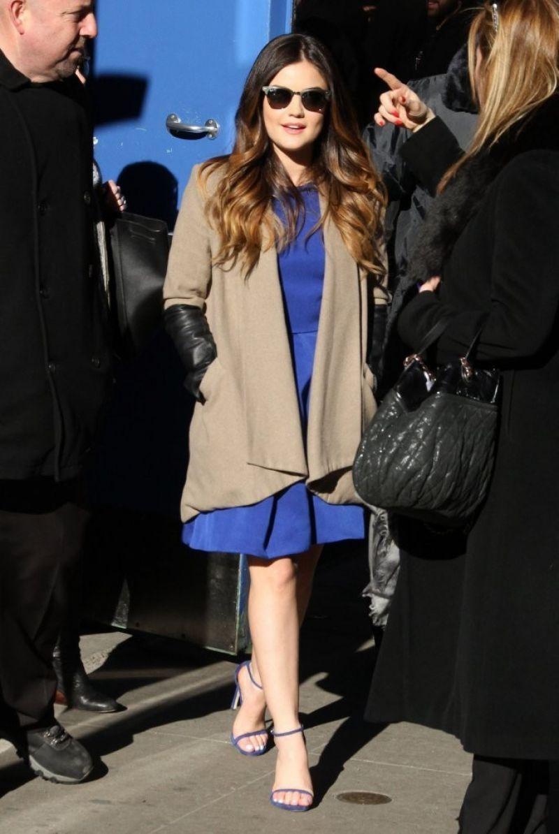 Luxy Hale Ashley Benson Troian Bellisario Arrives Gma Innew York