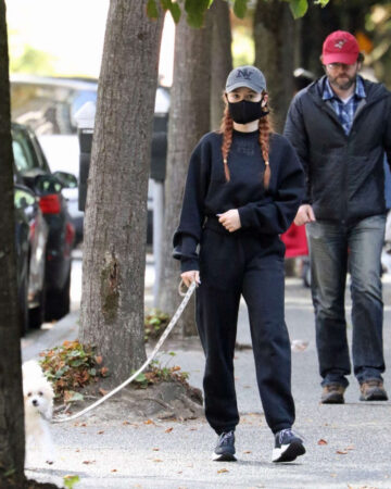 Madelaine Petsch Out With Her Dog Olive Vancouver