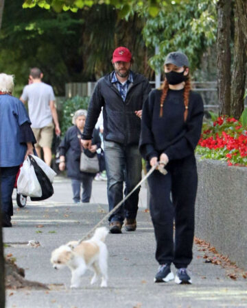 Madelaine Petsch Out With Her Dog Vancouver