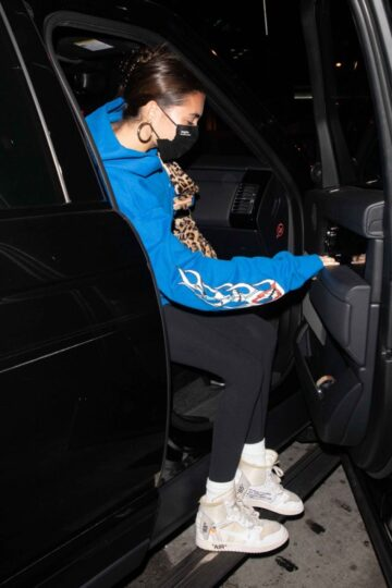 Madison Beer Leaves Boa Steakhouse West Hollywood