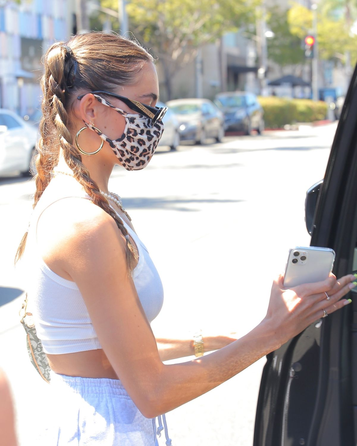 Madison Beer Leaves Il Pastaio Beverly Hills
