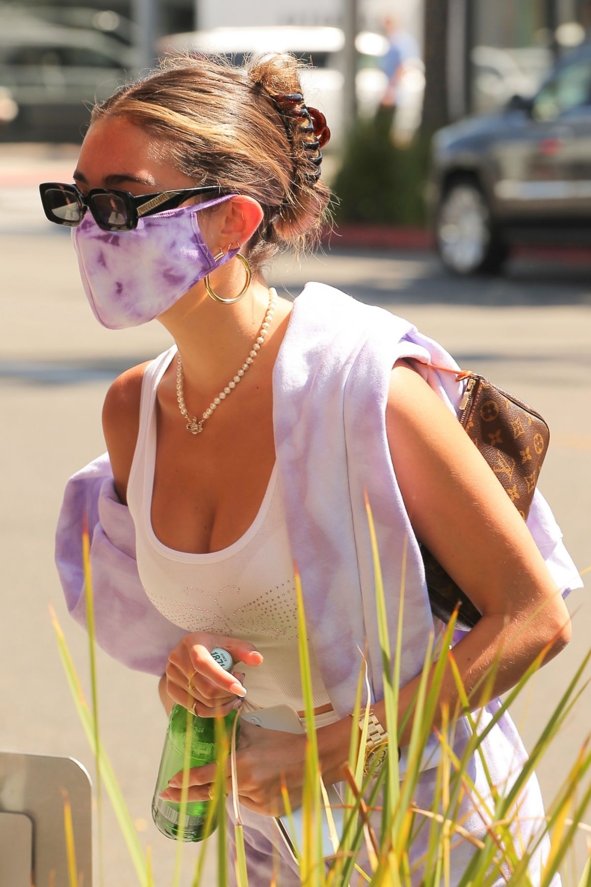 Madison Beer Shorts Wearing Mask Out Beverly Hills