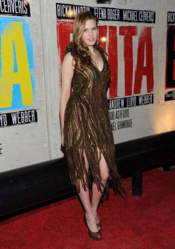 Maggie Grace Evita Opening Night New Star Cast New York