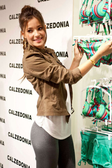 Malena Costa Calzedonia Recycled Campaign Photocall Madrid