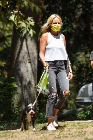 Malin Akerman Out With Her Dogs Los Feliz