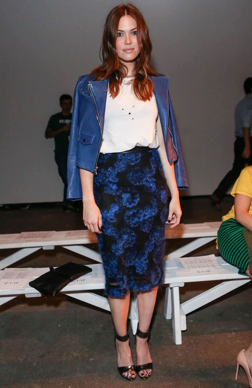 Mandy Moore Billy Reid Spring Fashion Show New York
