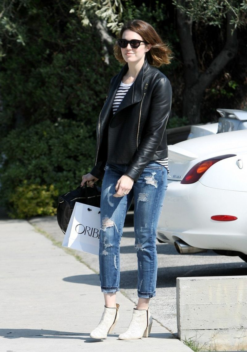 Mandy Moore Ripped Jeans Out Los Angeles