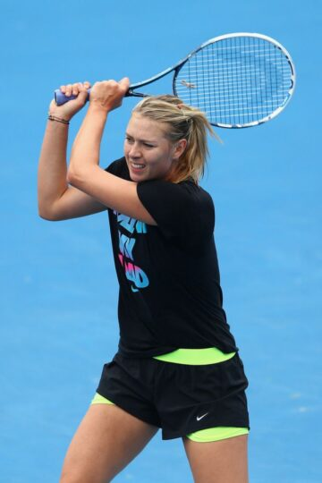 Maria Sharapova Practice Session Melbourne