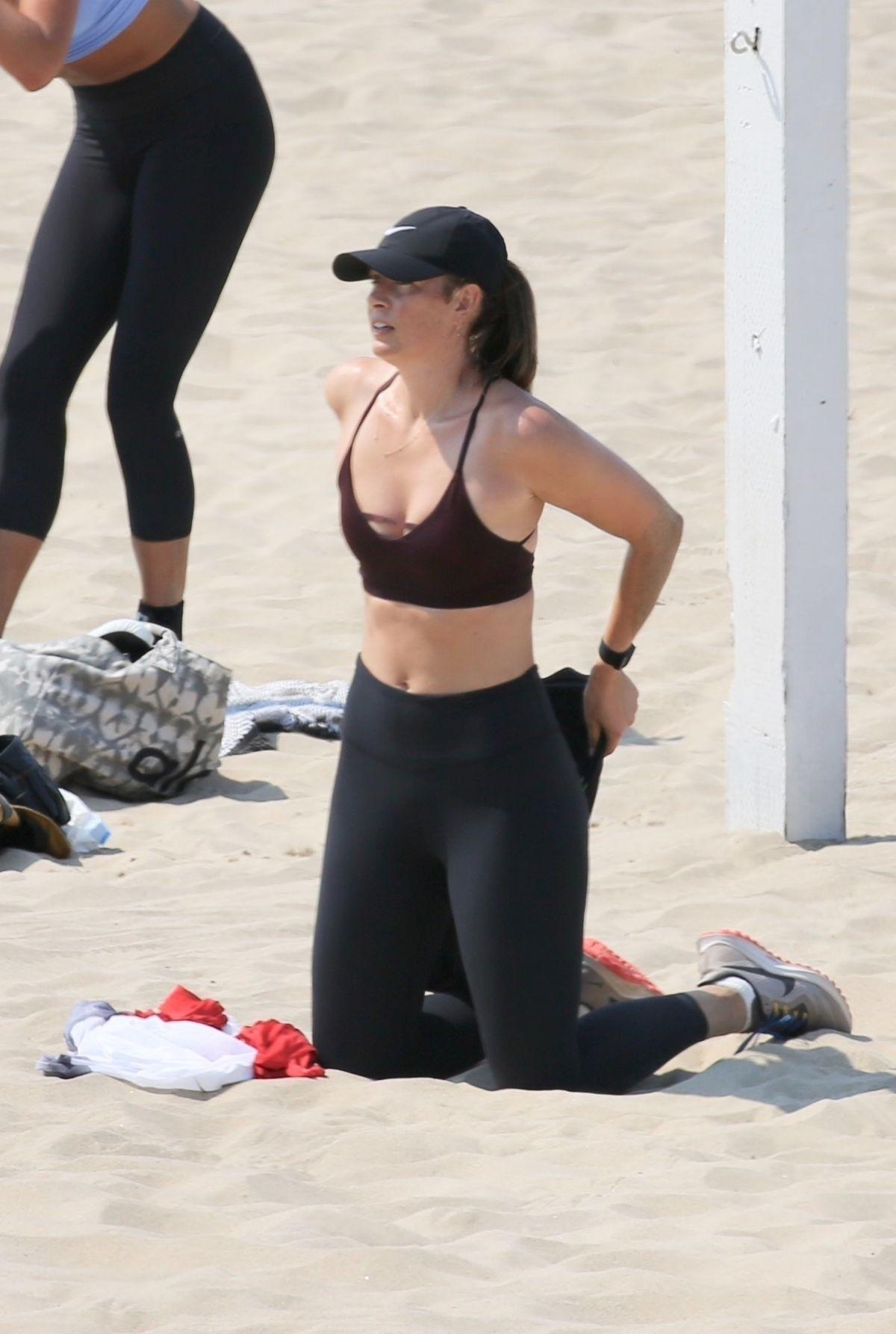 Maria Sharapova Workout Beach Los Angeles