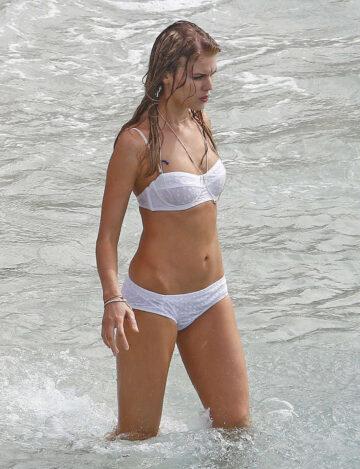 Maryna Linchuk Vogue Photoshoot Shell Beach Saint Barthelemy