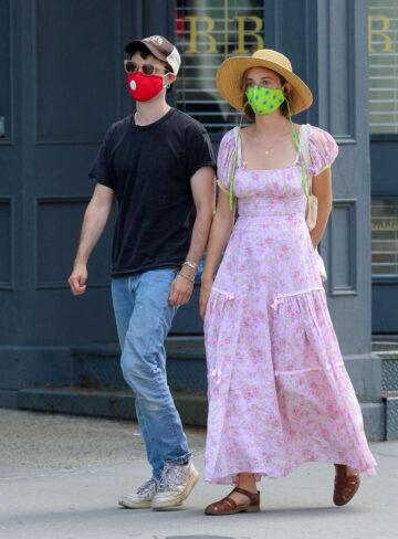 Maya Hawke Tom Sturridge Wearing Masks Out New York