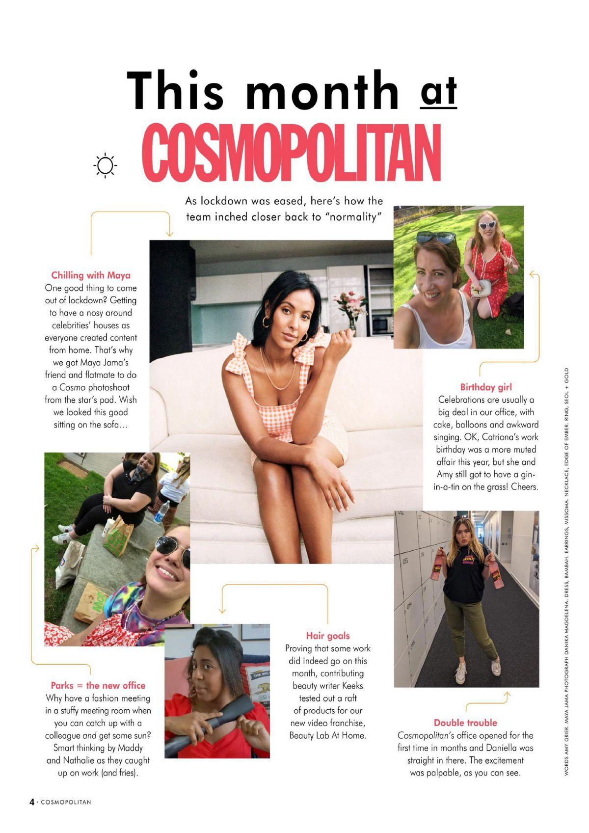 Maya Jama Cosmopolitan Magazine Uk September