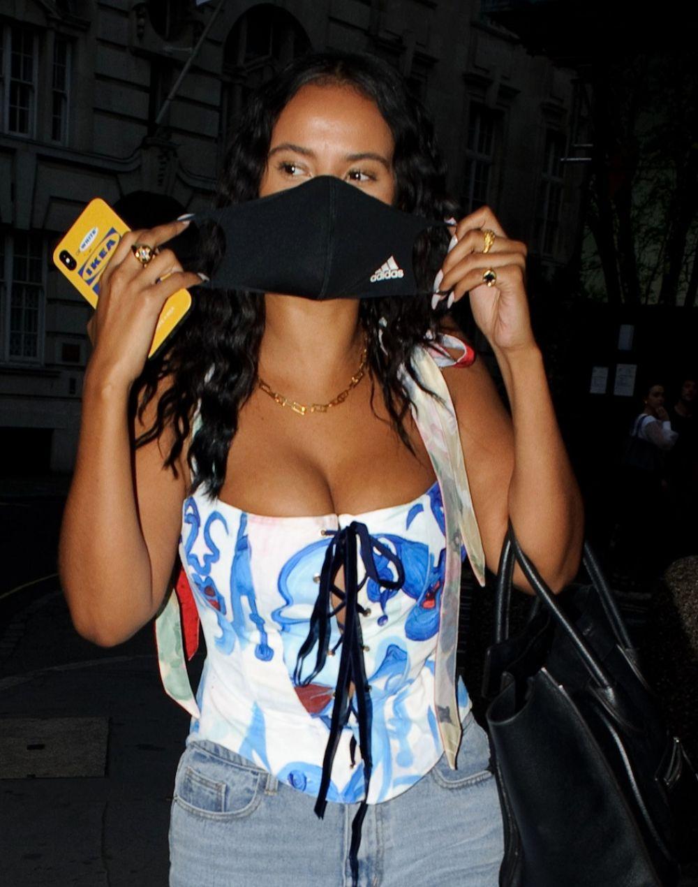 Maya Jama Night Out London