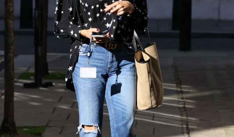 Melanie Sykes Leave Bbc Studios London (9 photos)