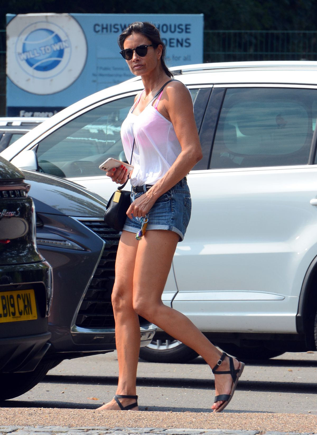 Melanie Sykes Out About West London