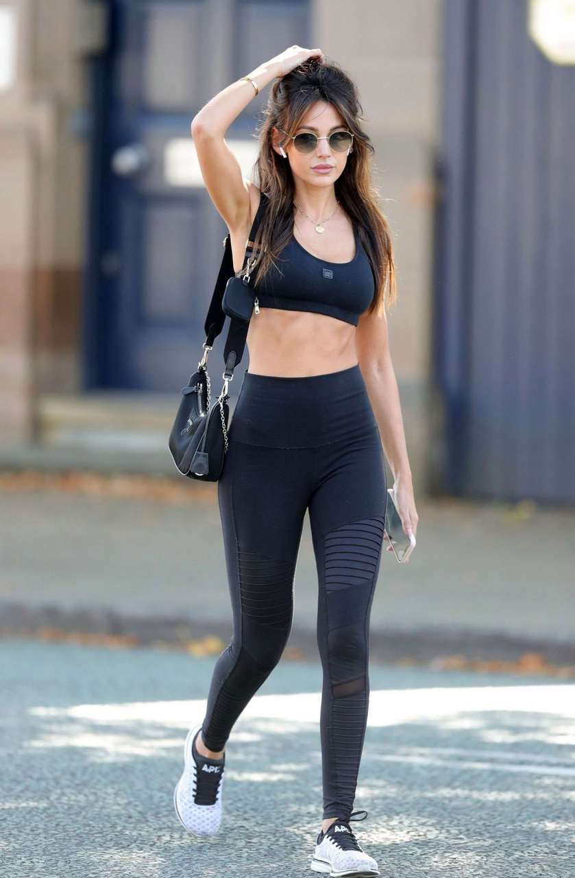 Michelle Keegan Arrives Gym Cheshire