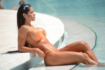 Michelle Lewin Bikini Pool Miami