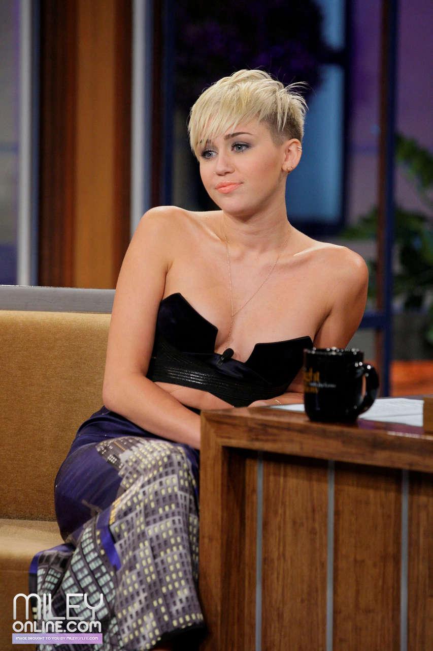 Miley Cyrus On Tonight Show Jay Leno