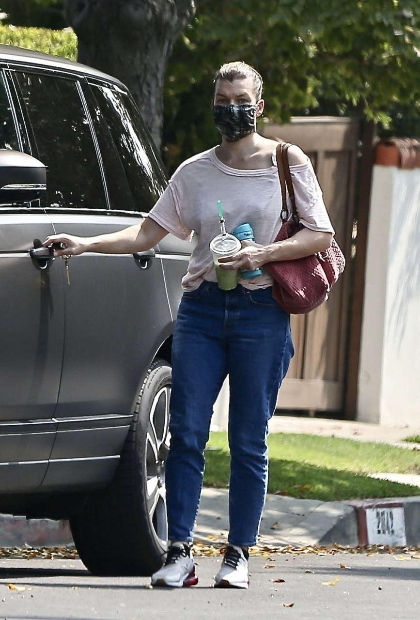 Milla Jovovich Out About Los Feliz