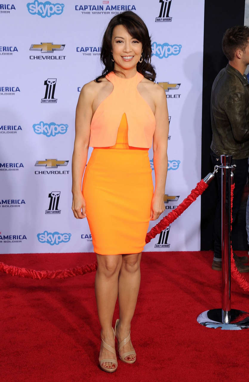 Ming Na Wen Captain America Winter Soldier Premiere Hollywood