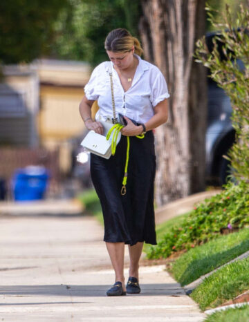 Mischa Barton Out With Her Dog Los Angeles
