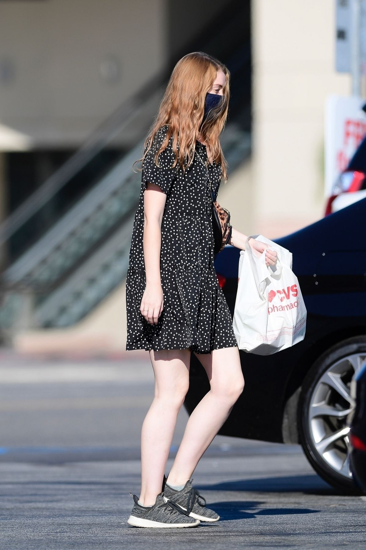 Molly Quinn Wearing Mask Out Los Angeles