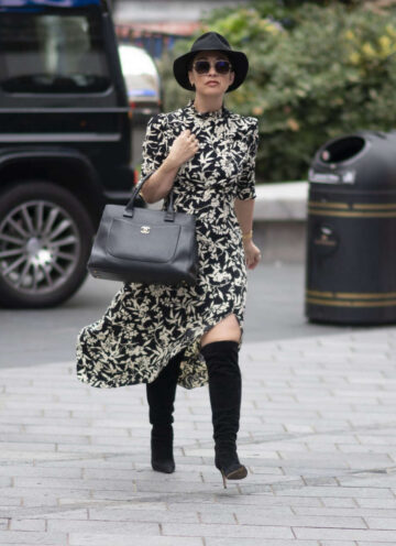 Myleene Klass Arrives Global Studios London