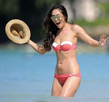 Myleene Klass Bikini Beach Barbados