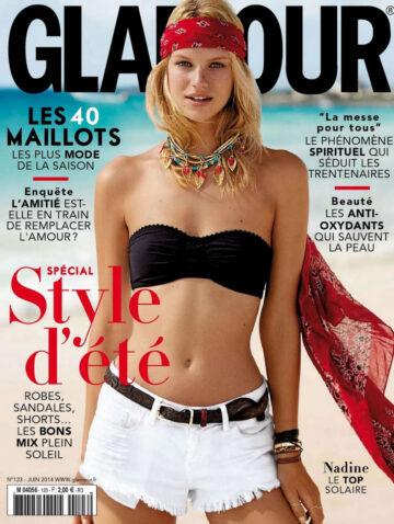 Nadine Lepopold Glamour Magazine France June 2014 Issue