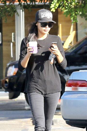Naya Rivera Leaves Coffee Bean Los Angeles