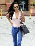 Naya Rivera Tight Jeans Out Glendale