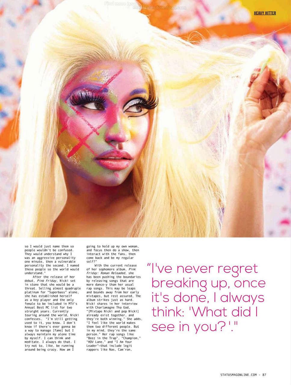 Nicki Minaj Status Magazine Philippines September 2012 Issue