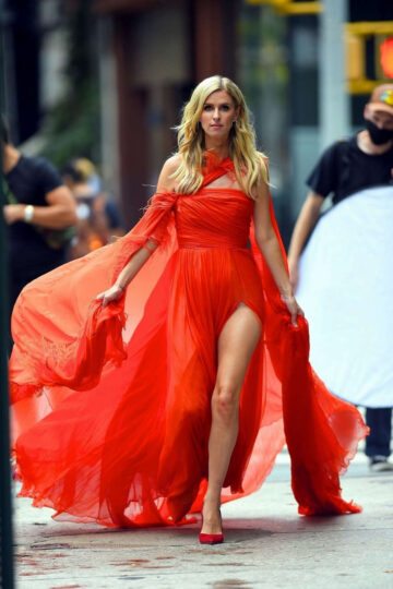 Nicky Hilton All Red Photoshoot New York