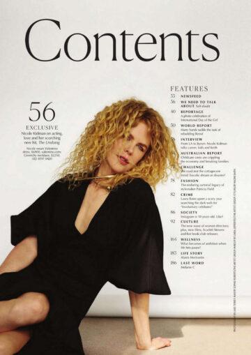 Nicole Kidman Marie Claire Magazine Australia November
